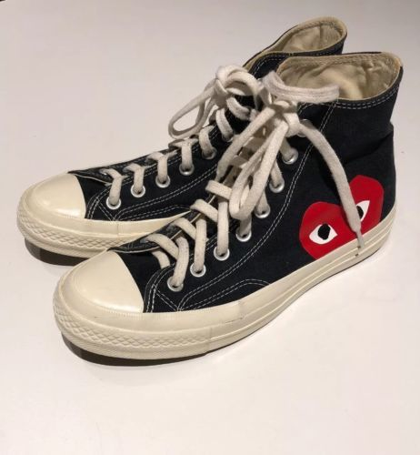 d863fb2d257cf Comme Des Garcons CDG Play x Converse Heart High Top Sneakers All Stars M 7 W  9