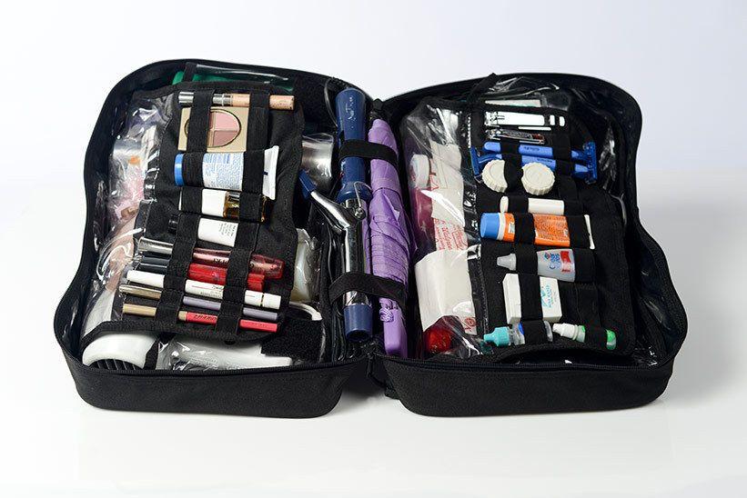 Freedom Bag Travel Makeup Cosmetics Toiletries Bath Qvc Organizer Burgundy Freedombag
