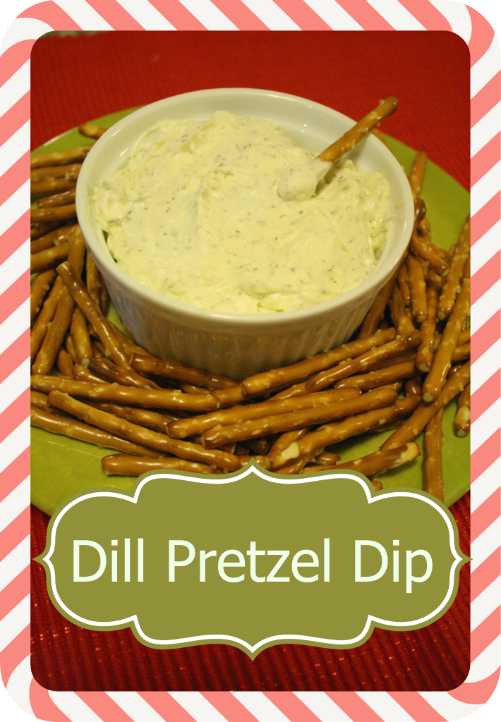 An Easy Dill Pretzel Dip Recipe That Is Made With Butter And
