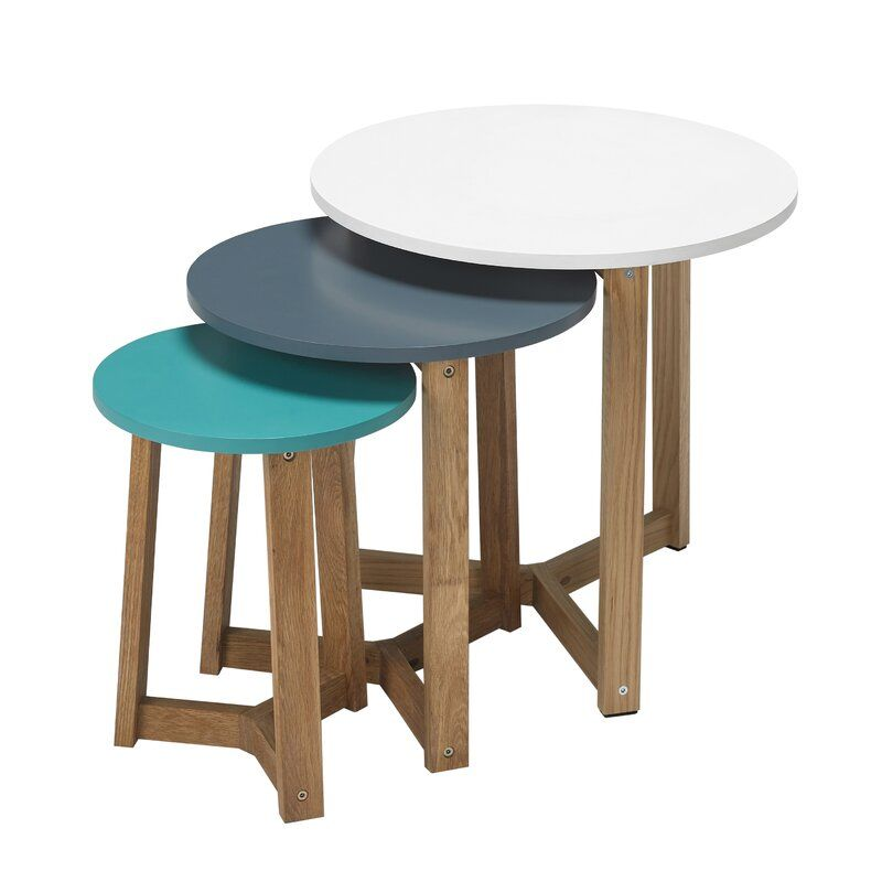 Yajaira 3 Piece Nest Of Tables In 2020 Nesting Tables Modern