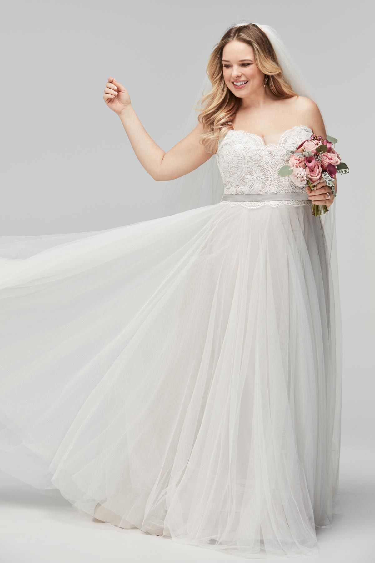 Plus Size Bridal Gown The Della By Wtoo Watters Curvy Bride Ivorybridalatl