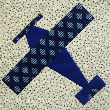 Aeroplane (airplane) quilt block