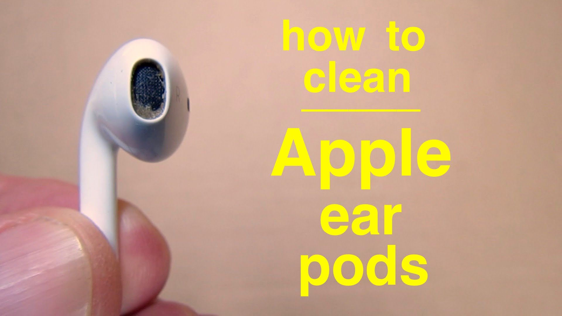 How to clean Apple Ear Pods ( properly ! ) Air pods, How