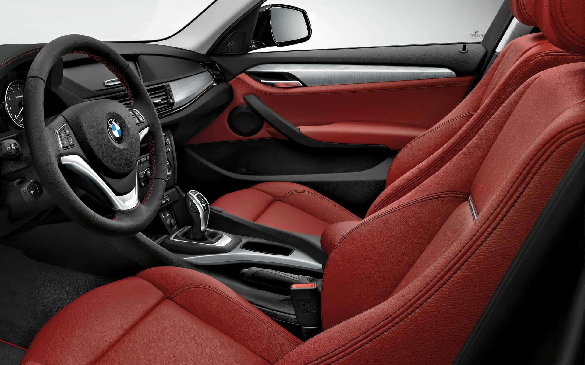 the bmw x1 with coral red nevada leather interior our next wheels pinterest bmw car. Black Bedroom Furniture Sets. Home Design Ideas