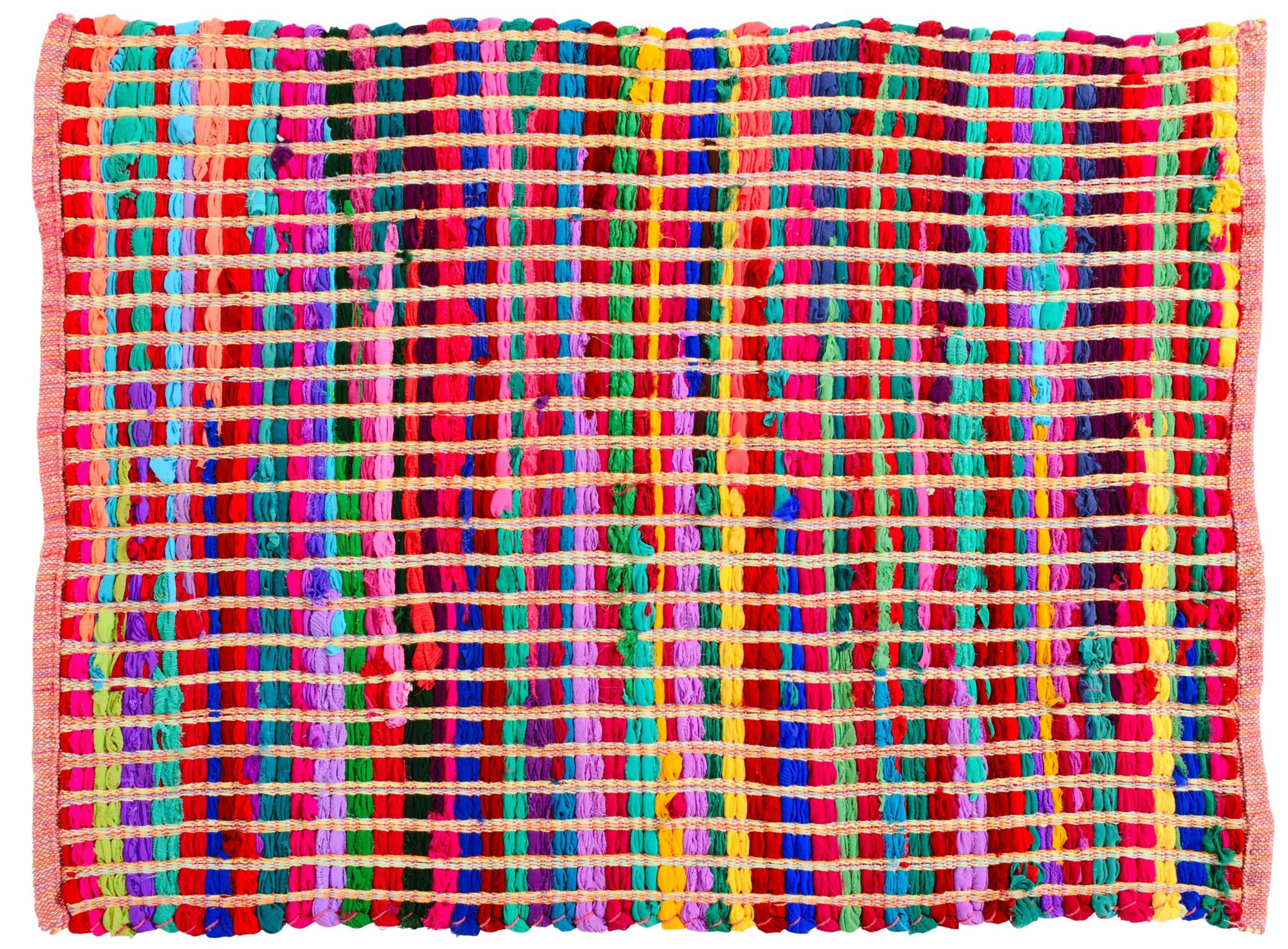 Tapis Tisse Main 60x85 Multicolore Tapis Chambre Salon Tapis Textile Fly Tapis Chambre Tapis Tisse Tapis
