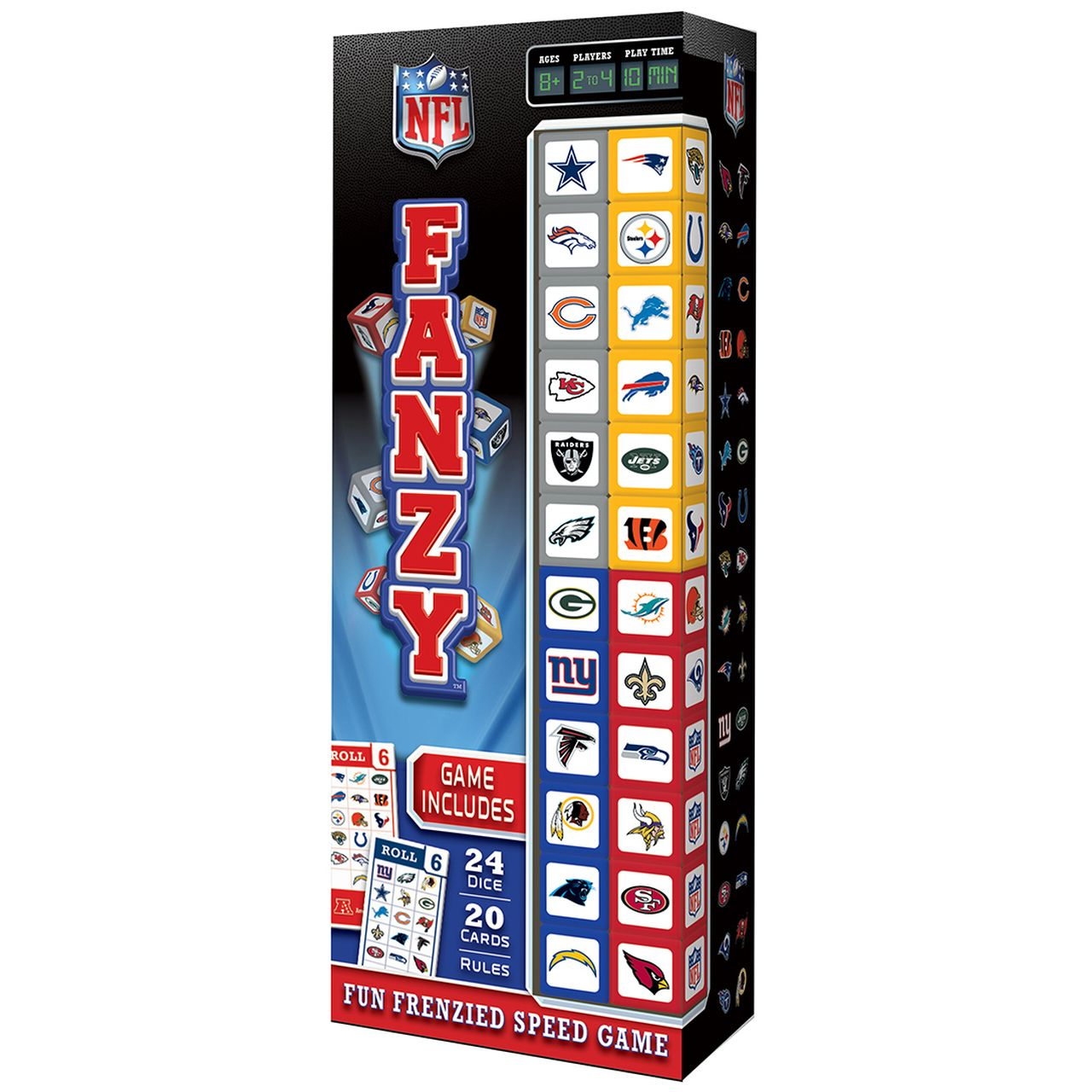NFL Fanzy Speed Dice Game Dice games, Nfl, Games