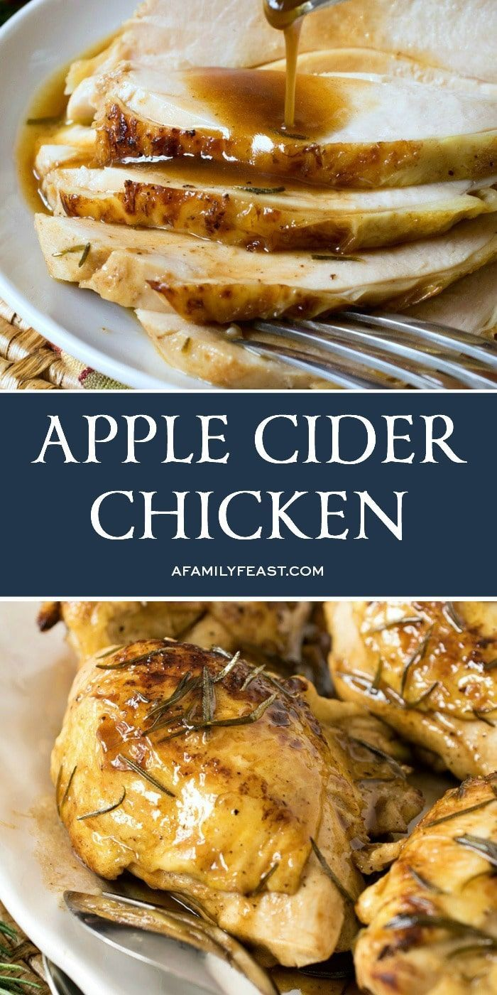 Apple Cider Chicken - A Family Feast