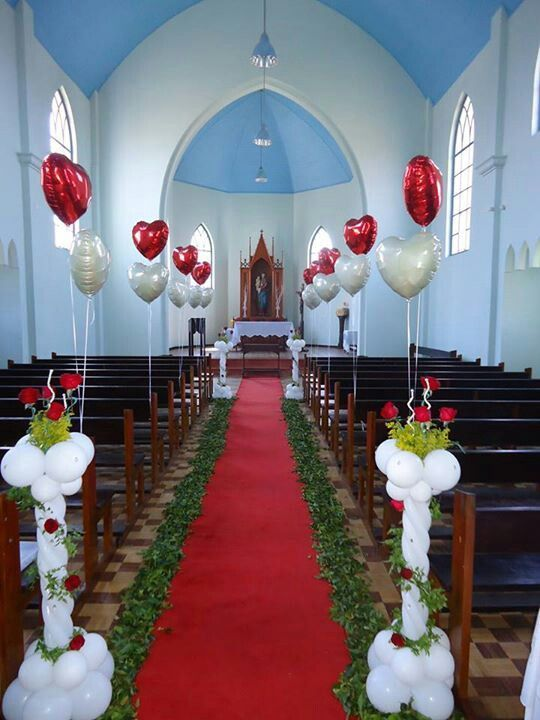 Lovely wedding church balloon decoration. | Wedding Balloon ...