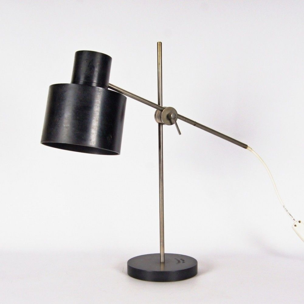 French Vintage Small Red Desk Light Articulated Desk Lamp Mid