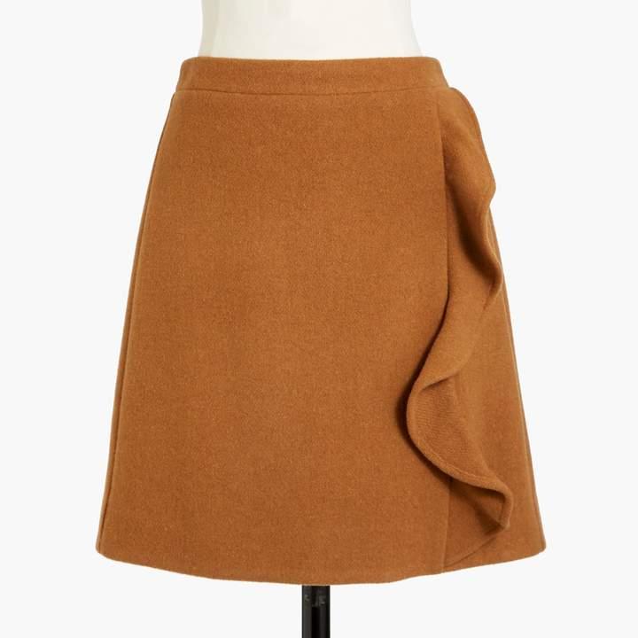 7f5b65a1ce J.Crew Ruffle-front mini skirt in double-serge wool in 2019 ...