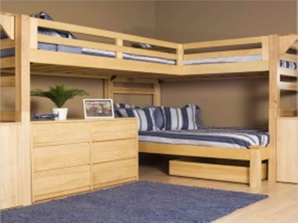 Homemade loft bed with desk  Bedroom Wonderful Bed Desk Combo Furniture Also King Single Bed