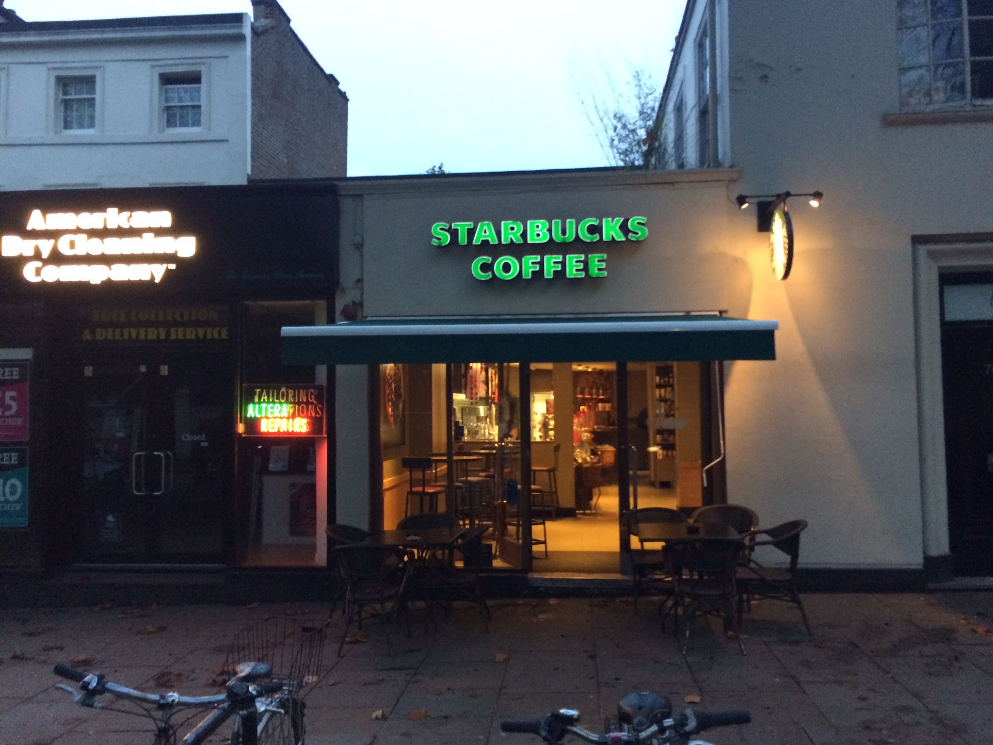 Starbucks Looking After Their Customers With A New External Awning By Deans Blinds Awnings Blinds Commercial Property Installation