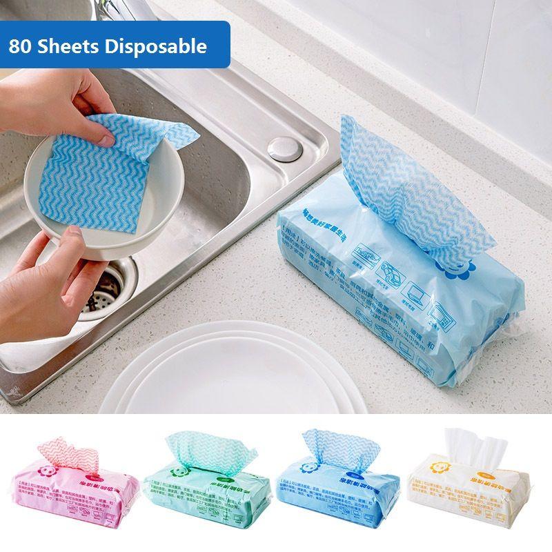 80 Pieces Portable Multifunction Eco Friendly Disposable Non Woven