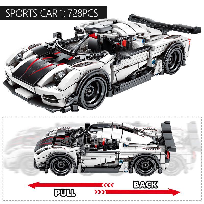 728 Buah Kota Diy Tarik Belakang Mekanik F1 Mobil Balap Legoed Balok Susun Untuk Legoingl Teknik Mobil Bata Mainan Untuk Anak Anak Laki Laki Hadiah Ulang Tahun Mainan Konstruksi Untuk Anak Anak Mobil