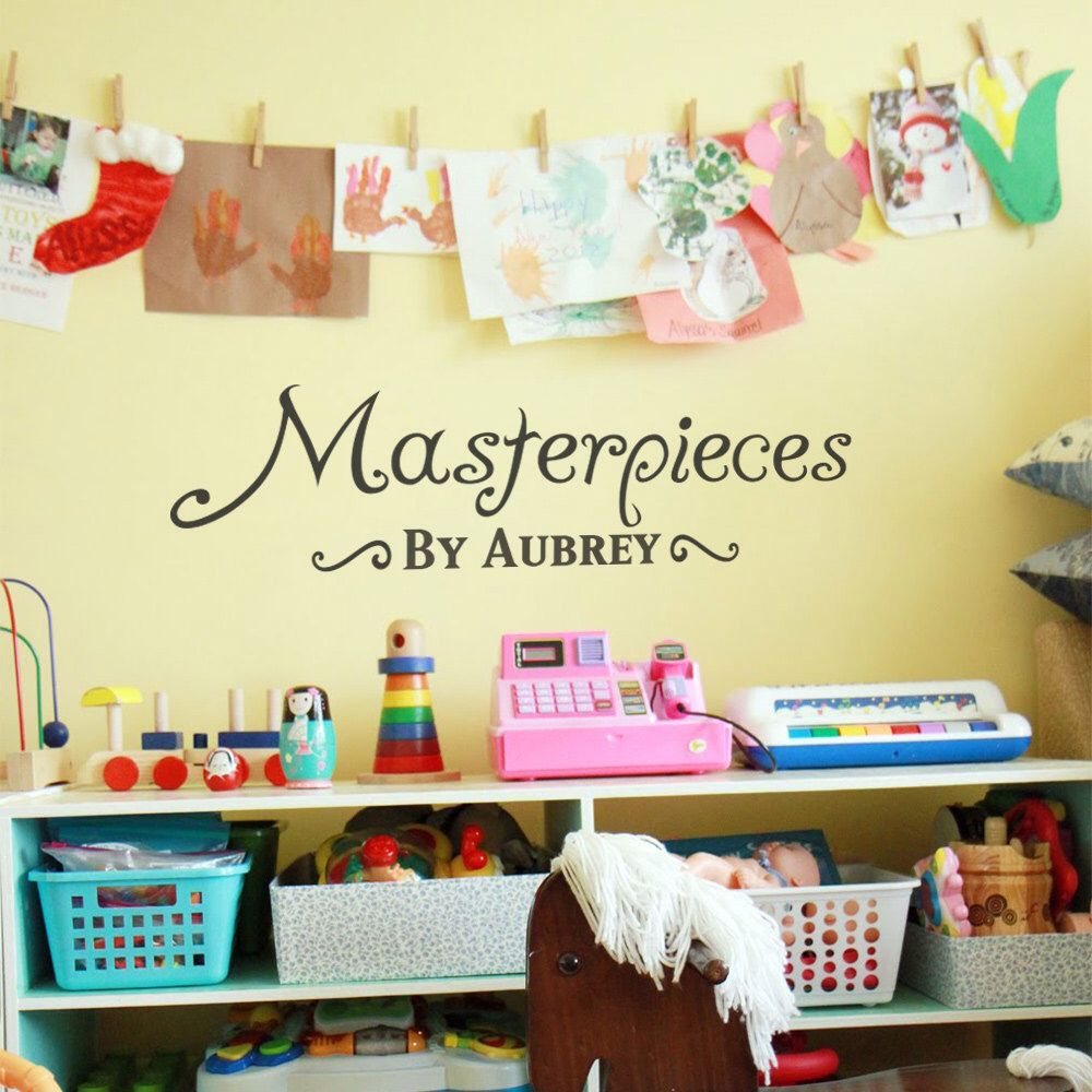 MASTERPIECES Personalized Wall Decal Vinyl Wall Sticker For Kids ART ...
