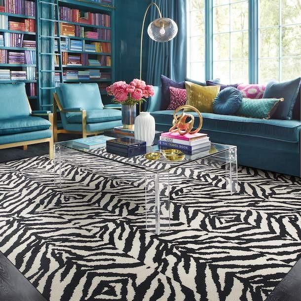 Zebra Crossing Graphics Patterns Carpet Tiles Living Room Carpet Zebra Living Room Rugs In Living Room #zebra #decor #for #living #room
