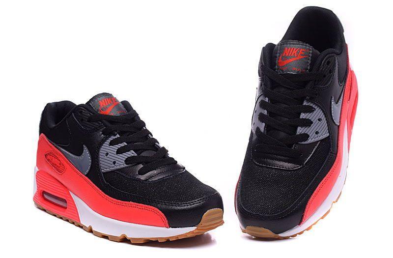 74dd8dc54ee Nike Air Max 90 Black Red