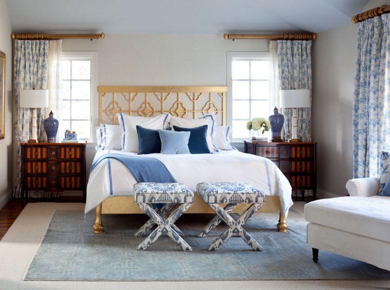 10 magnifiques chambres décorées en bleu marine et doré | Chambre ...
