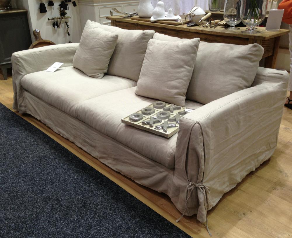 Long Island Linen Sofa - Removable Covers – Allissias ...