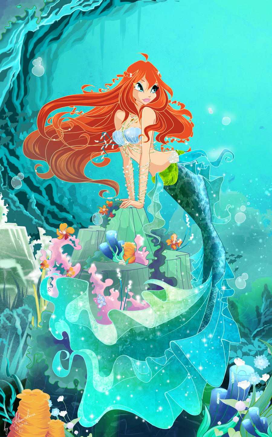 Bloom mermaid anges et f e anges et f es - Bloom dessin anime ...