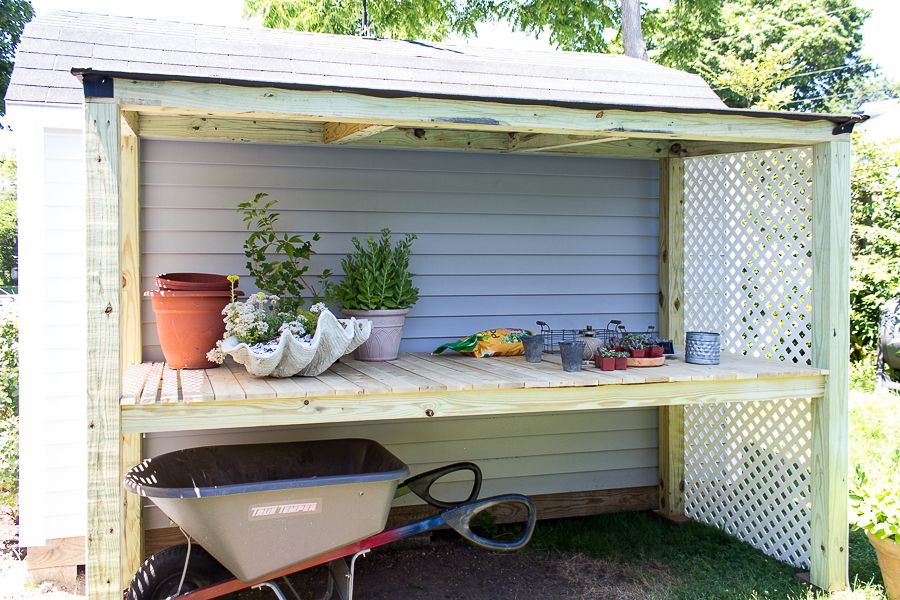 This Lean To Potting Shed Gives You Plenty Of Sheltered Storage