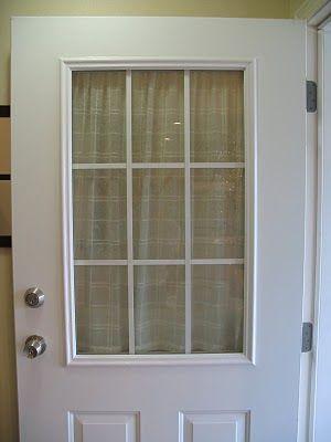 Remodelaholic Spray Painted Window Trim On Exterior Door Front Doors With Windows Exterior Door Window Exterior Door Trim