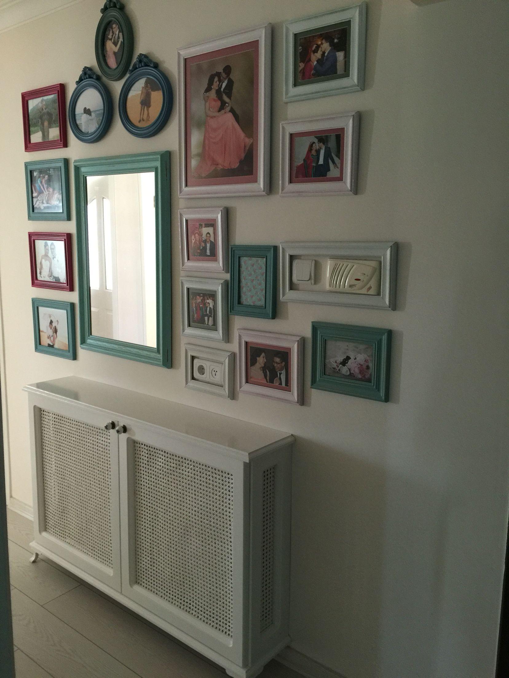 Dekoratif kalorifer kaplama, duvar çerçeve ayna Genç odası