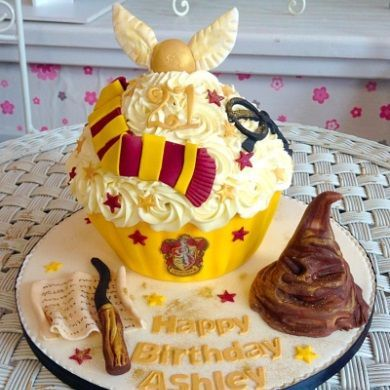 Image result for harry potter giant cupcake #giantcupcakecakes
