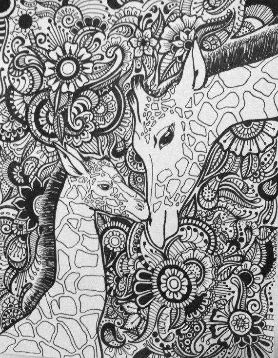 Giraffe Floral Design by byjamierose on Etsy | Giraffe ...