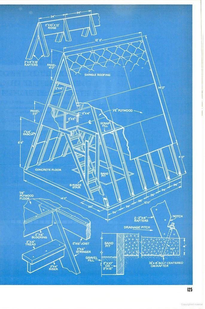 22 Beautiful 14x14 A Frame Cabin Plans 14x14 A Frame Cabin Plans Elegant Free Cabin Blueprints Download Fre A Frame Cabin Plans A Frame House Plans Play Houses