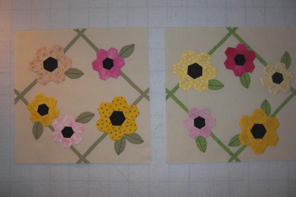 Quilting: April Showers Bring Hexi Flowers