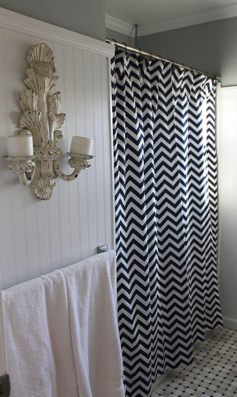 Window coverings of idaho  dark gray chevron shower curtain  legalizecrew