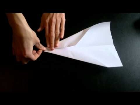 comment faire un avion en papier qui vole vite et loin longtemps origami simple et rapide .mp4 - YouTube