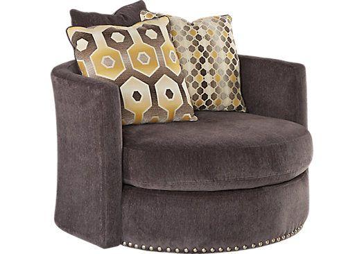 Sofia Vergara Laguna Beach Gray Swivel Chair Furniture