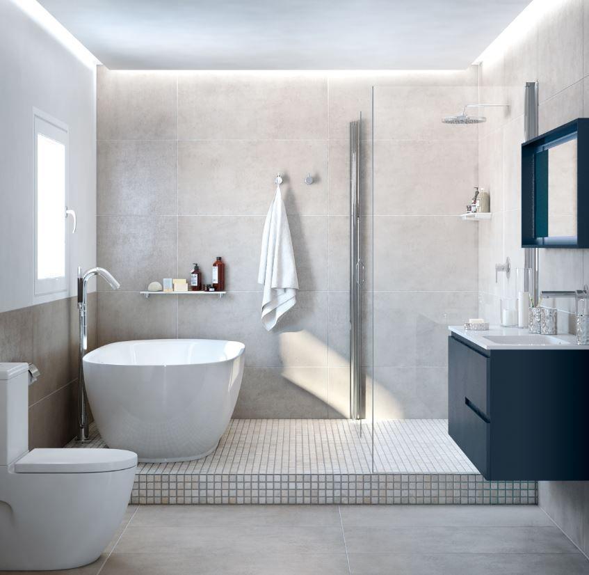 La estética clásica en los baños es algo que nunca pasa de ...