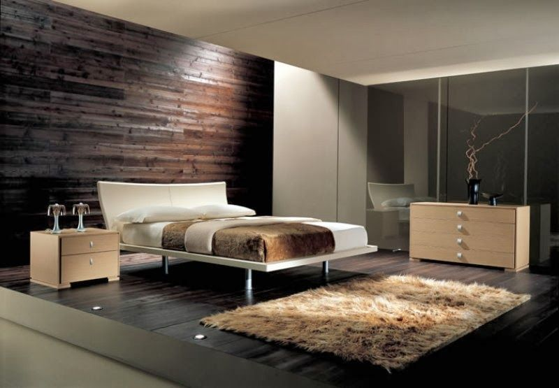 Bedroom Modern 2015 Ideas Hardwood Wall Decor Behind Comfortable Double Bed Teenage Decorating For Boys Design Small