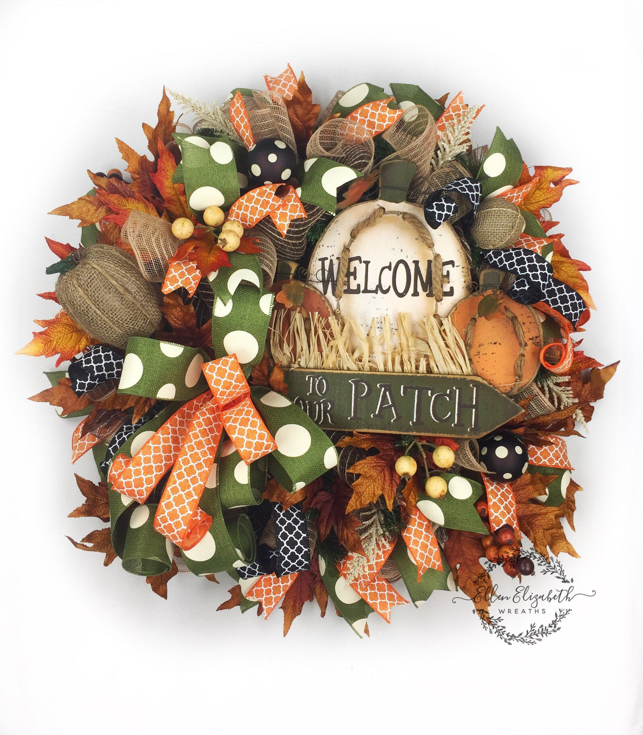 Fall Wreaths For Front Door, Fall Wreath And Decor, Fall