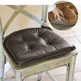 Faux Leather Chair Pad Nonslip Leatherette Chair Cushion Solutions 15 X 16 X 2 17 98 Buy Three Or More At 14 Faux Leather Chair Chair Pads Chair