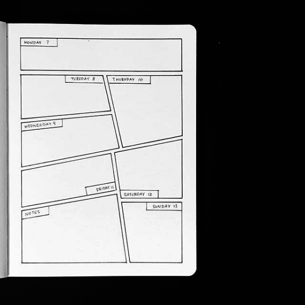 21 Awesomely Simple Bullet Journal Spreads for Your Neat Mind #comicbooks
