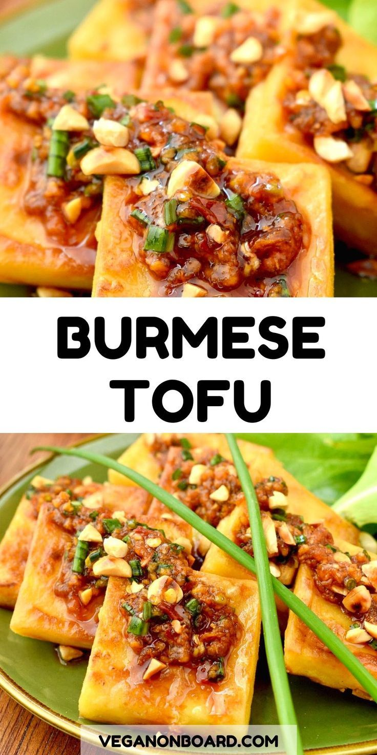 Burmese Tofu with Garlic, Ginger & Chilli Sauce