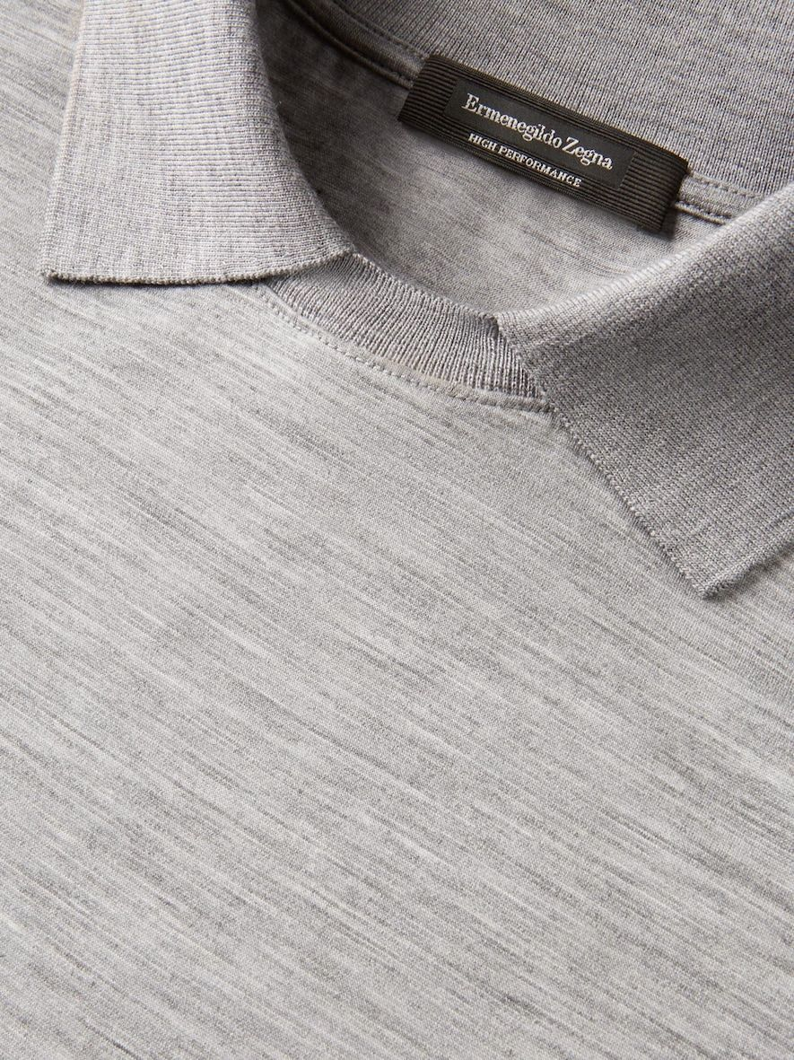 31fe3b68 Light Grey Long Sleeved Polo Shirt #MensT-shirts | Mens T-shirts in ...