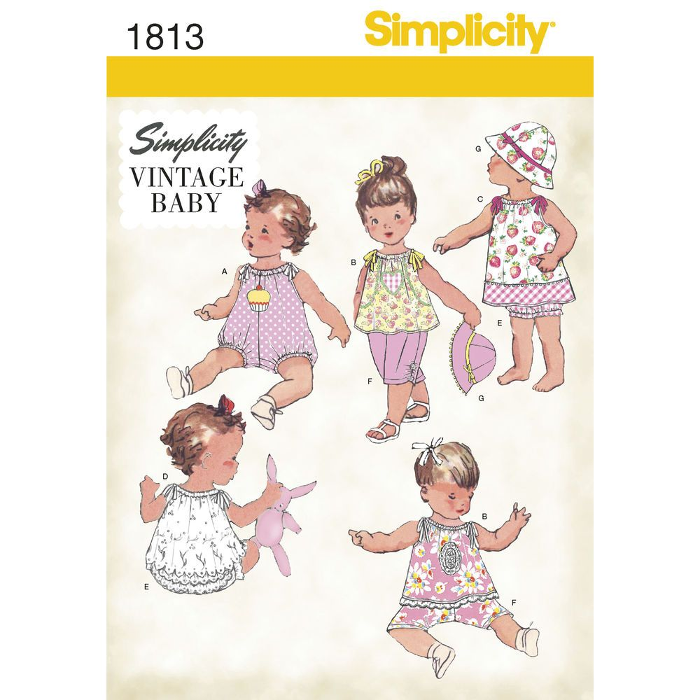 Babies\' vintage romper, dress, top, pants, panties and hat, hat in ...