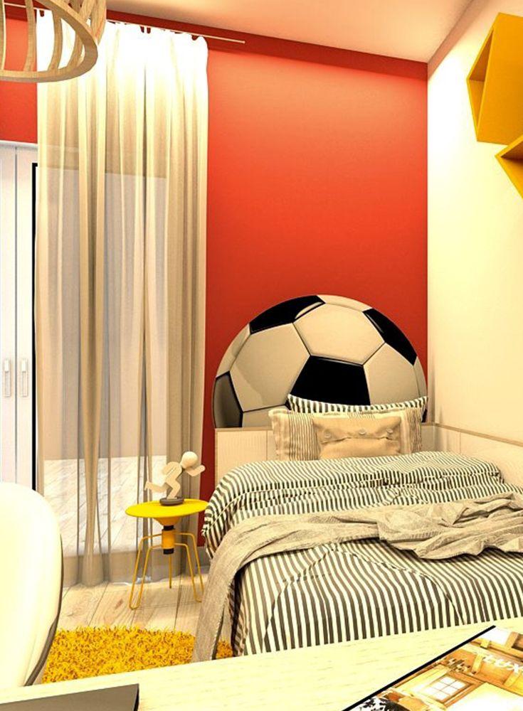 Fussball Mal Anders Ein Jungenzimmer In Schwarz Rot Gelb In