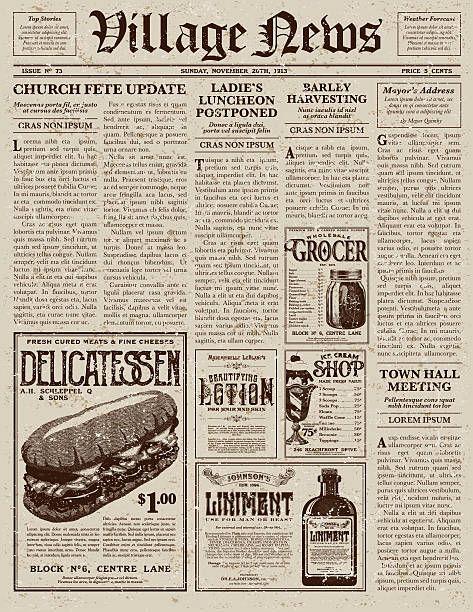 Vintage Victorian Style Newspaper Design Template