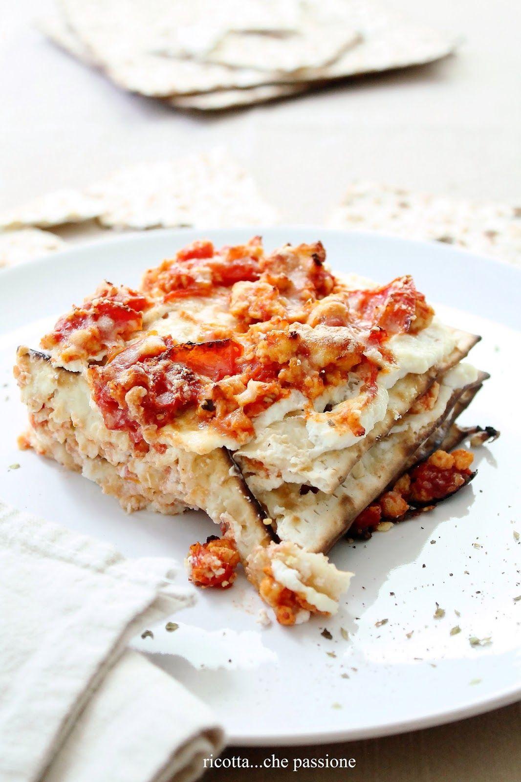 Lasagne di pane azzimo con ragù di pollo