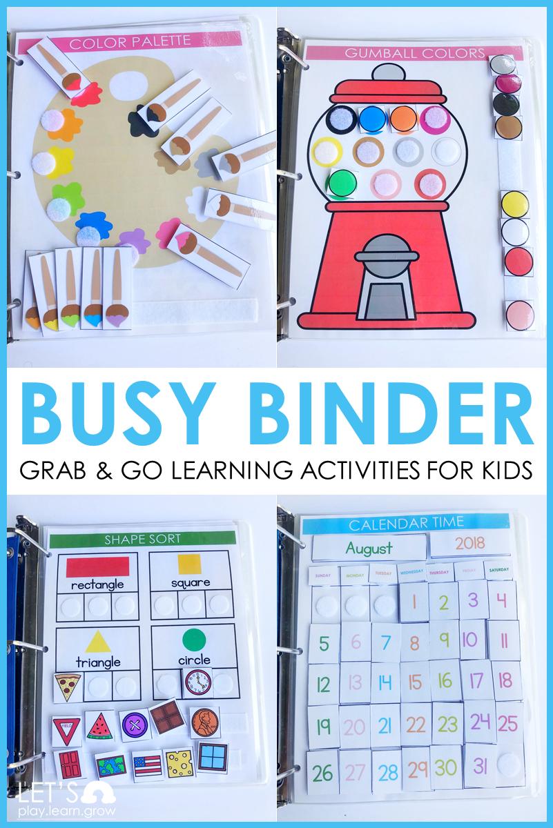 Busy Binder Early Learning Bundle | Preschool learning ...