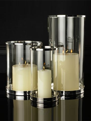Silver Modern Hurricane Contemporary Candles Hurricane Candles Candle Holders