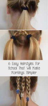 6 einfache frisuren für die schule, die den morgen