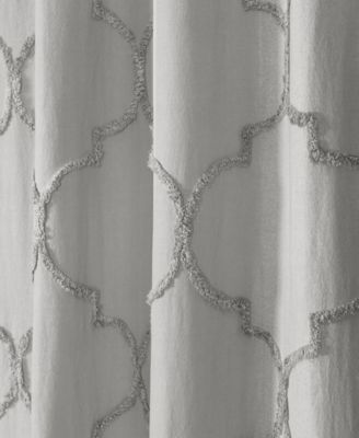 Avon Chenille Trellis 72 X 72 Shower Curtain Gray With Images