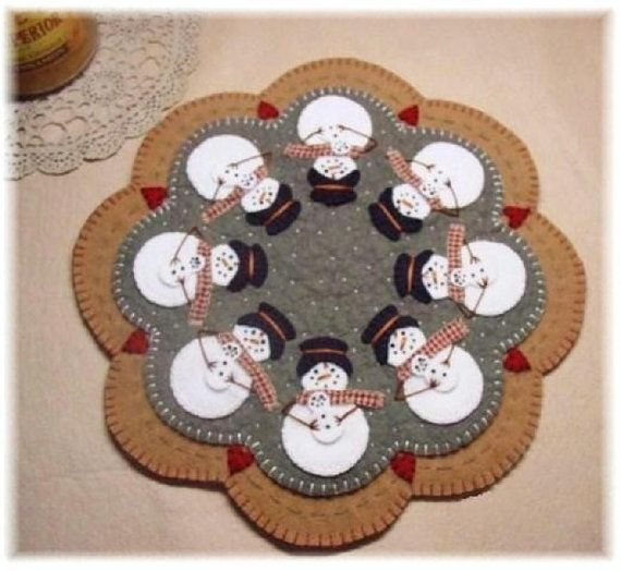 Snomoms Candle Mat Penny Rug Pattern With Wool Kit On Etsy 23 10 Cad